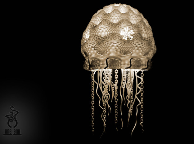 Jellyfish lampshade top : part A 3d printed Part A & B of Jellyfish lampshade + IKEA base