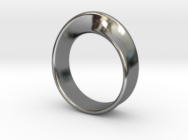 Moebius Ring 19.0 in Fine Detail Polished Silver