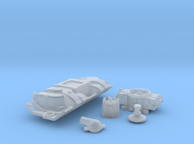 1/12 Scale Stock BBC 4 BBL Intake Kit 3d printed