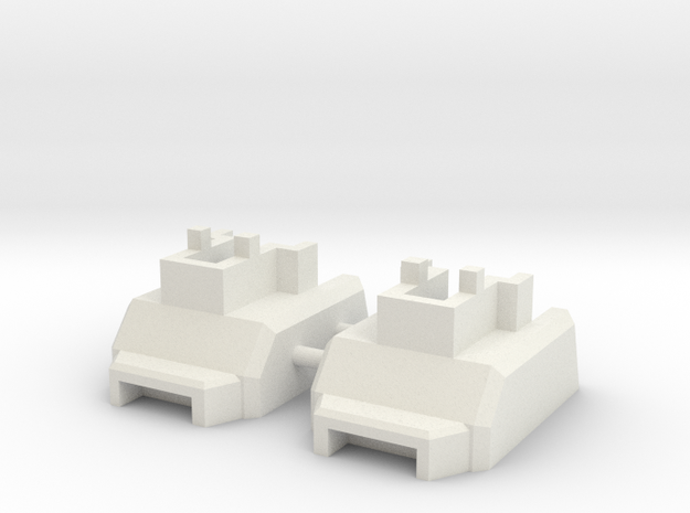 Customatron - Landformer - Feet Kit (Lrg) in White Natural Versatile Plastic