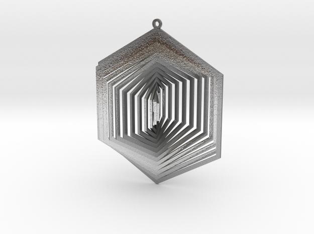 Pendant Wind Spinner 3D Hexagon