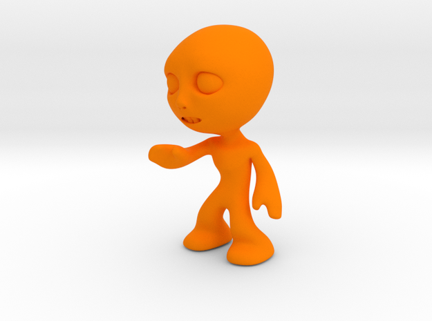 MTI-newfella pose 8 in Orange Processed Versatile Plastic