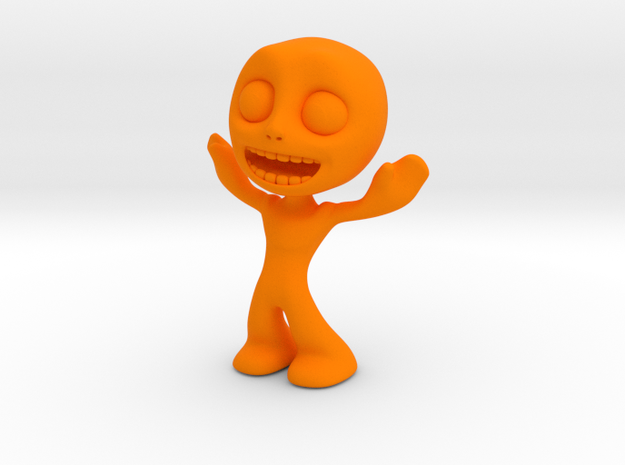 MTI-newfella pose 9 in Orange Processed Versatile Plastic