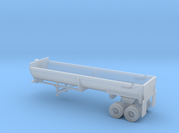 N Scale 1:160 End Dump Rock Trailer in Smooth Fine Detail Plastic