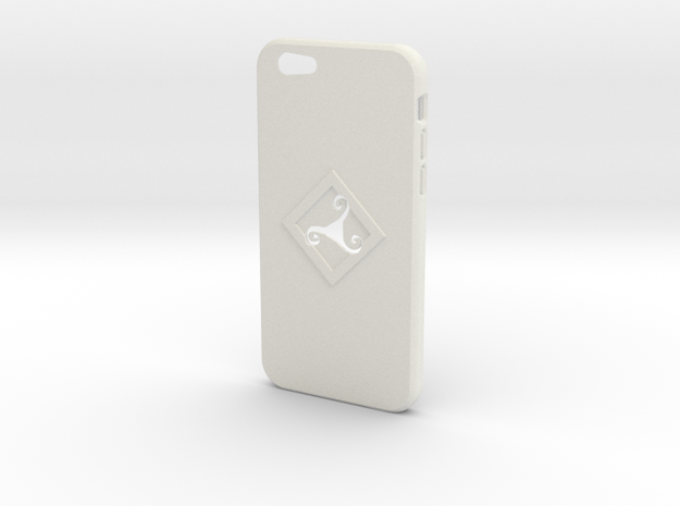 Iphone6 Case Triskel in White Strong & Flexible
