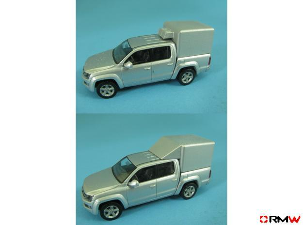 HO/1:87 Pickup cap aircon+deflector set VW AMAROK in Frosted Ultra Detail