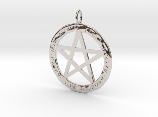 Pentacle pendant - Goddess chant