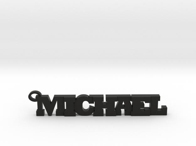 Michael Keychain (Pendant) in Black Strong & Flexible