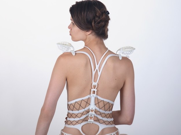 Seed Of Life corset in White Strong & Flexible