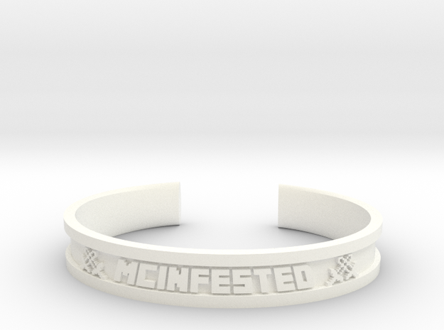 McBracelet (2.0 Inches) in White Strong & Flexible Polished