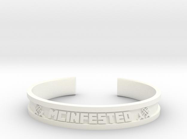 McBracelet (2.0 Inches) in White Processed Versatile Plastic