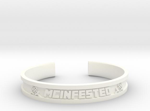 McBracelet (2.6 Inches) in White Processed Versatile Plastic