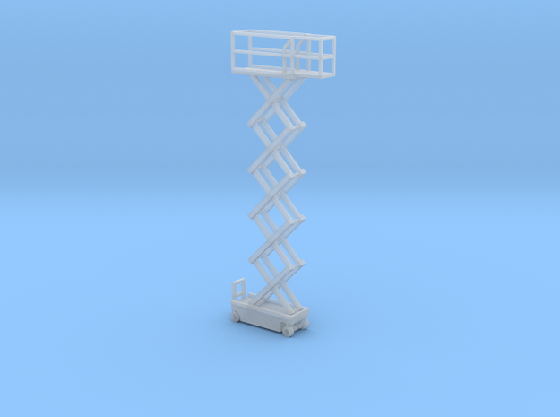1:160 N Scale Scissor Lift - Fixed Position in Smooth Fine Detail Plastic