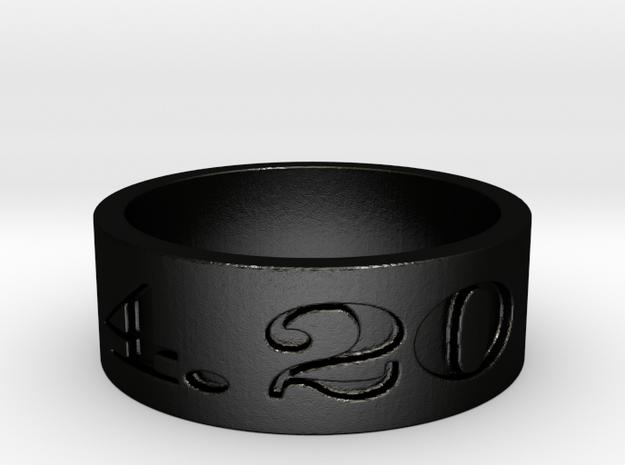 4.20 ring Ring Size 10 in Matte Black Steel
