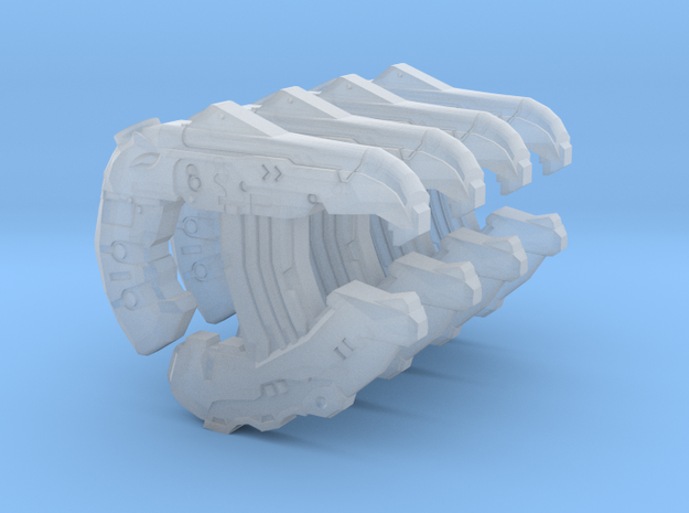 1:18 4x Sci-Fi direct energy pistols in Smooth Fine Detail Plastic