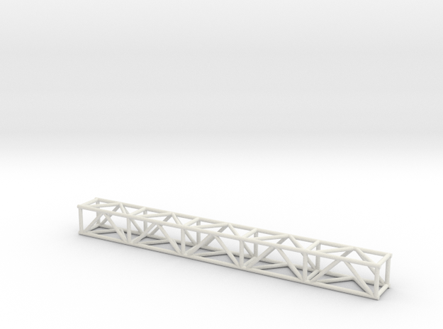 "10' 12""sq Box Truss 1:48 in White Natural Versatile Plastic"