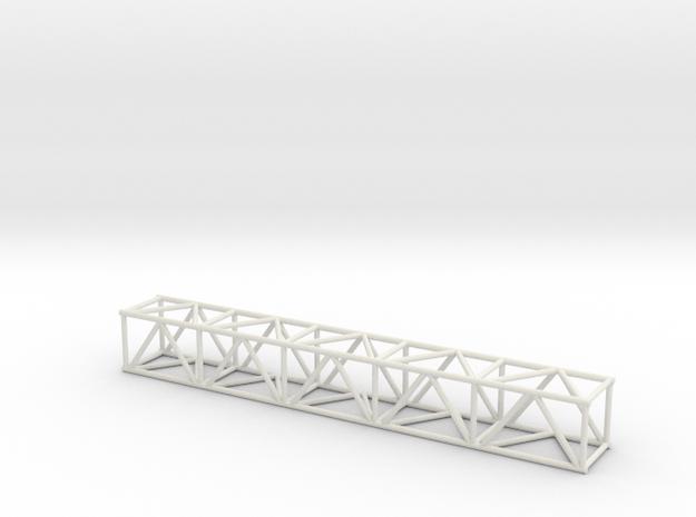 "10' 16""sq Box Truss 1:48 in White Natural Versatile Plastic"
