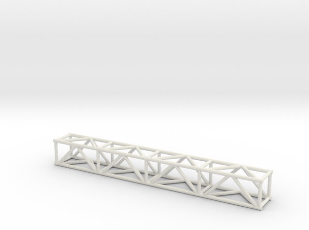 """8' 12""""sq Box Truss 1:48 in White Strong & Flexible"""