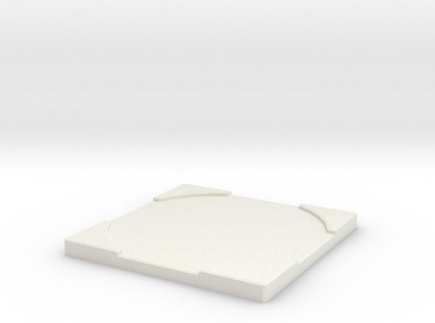 "Mini Counter - Large (2"") in White Natural Versatile Plastic"