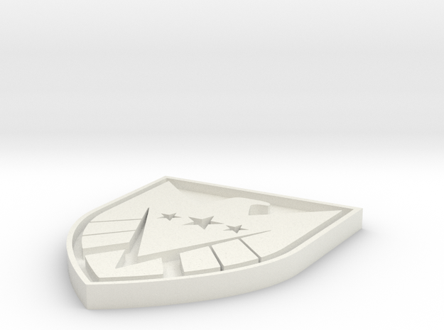 New S.H.I.E.L.D. in White Natural Versatile Plastic