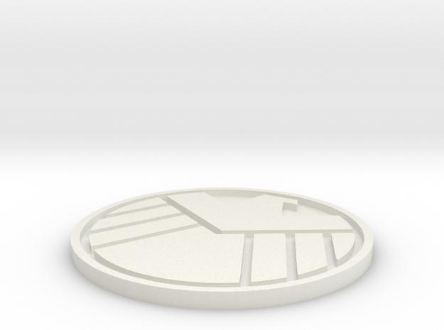 S.H.I.E.L.D. Logo in White Natural Versatile Plastic