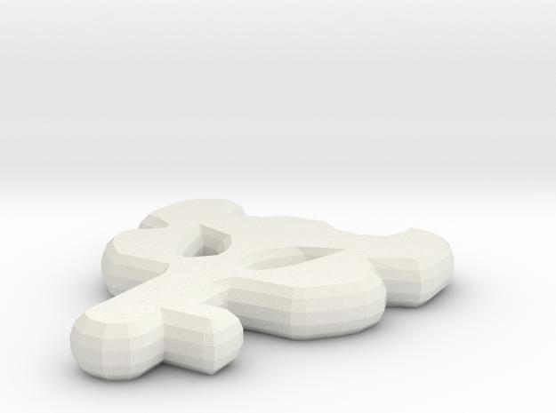 Dungeon Key Replica - Legend of Zelda in White Natural Versatile Plastic