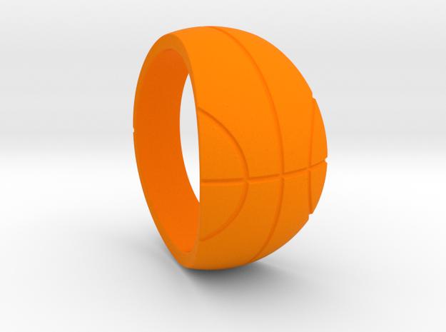 Size 9 Basketball Ring  in Orange Processed Versatile Plastic