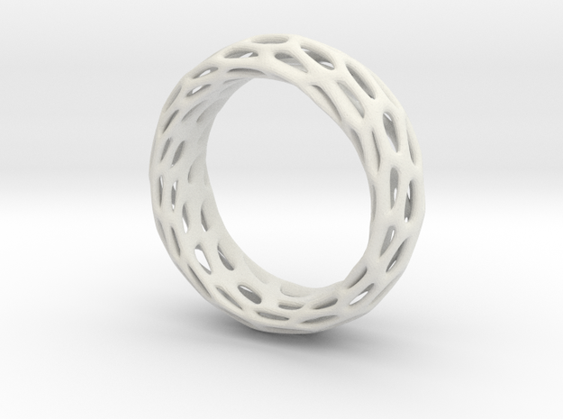 Trous Ring Size 8 in White Natural Versatile Plastic
