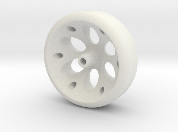 Enigma Pinewood Wheel in White Strong & Flexible