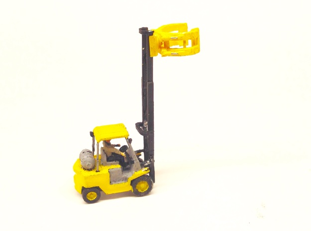 N Scale 1:160 Forklift With Paper Clamp in Smooth Fine Detail Plastic