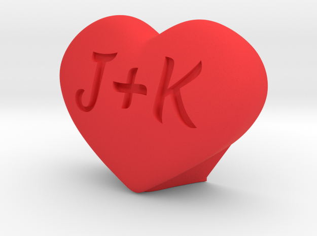 Heart Love custom in Red Processed Versatile Plastic