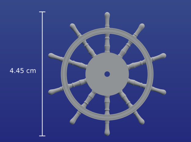 1:40 Ships-Wheel HMS Victory in Smooth Fine Detail Plastic
