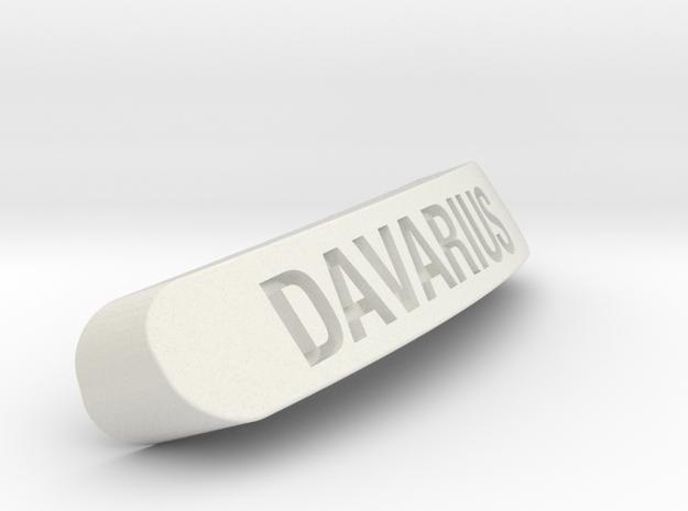 DAVARIUS Nameplate for Steelseries Rival in White Natural Versatile Plastic