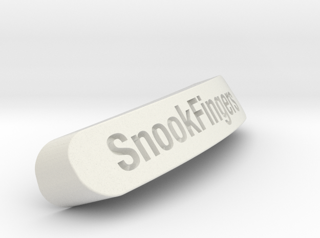 SnookFingers Nameplate for Steelseries Rival in White Strong & Flexible