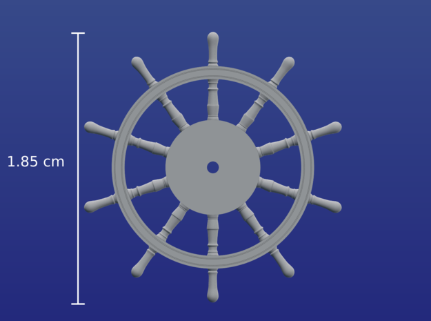 1:96 HMS Victory Ships Wheel in Frosted Extreme Detail