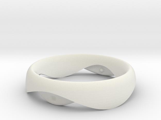 Swing Ring elliptical 17mm inner diameter in White Natural Versatile Plastic