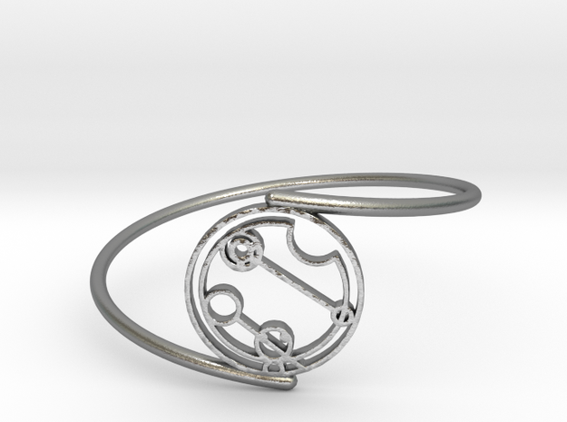 Caitlin / Kaitlin - Bracelet Thin Spiral in Natural Silver