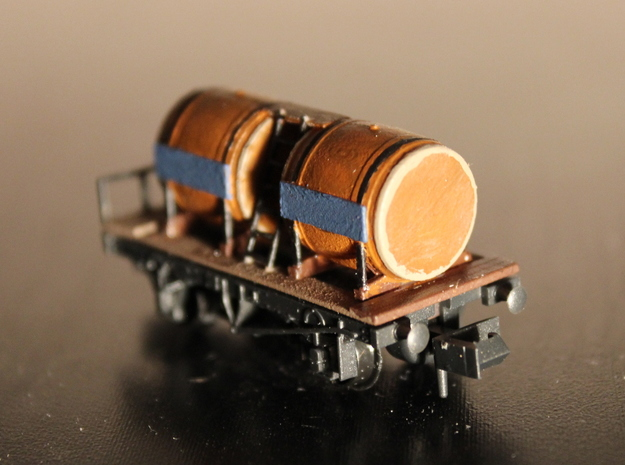 n-scale wine wagon simple 3d printed with Peco NR-123 chassis