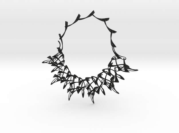 Counterpoint Necklace in Black Natural Versatile Plastic
