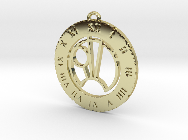 Sam - Pendant in 18k Gold Plated Brass
