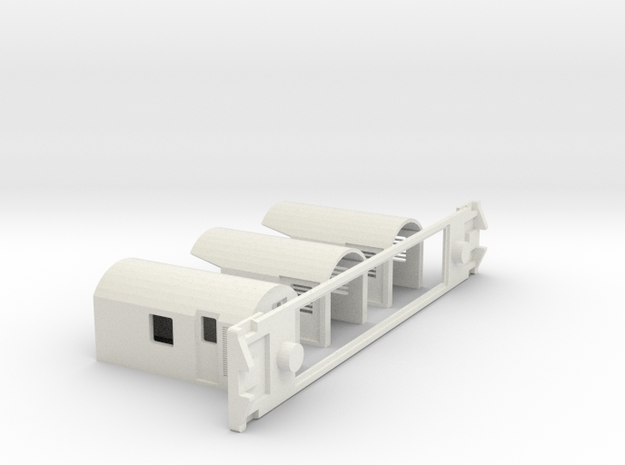 AG Centre Generator, NZ, (OO Scale, 1:76) in White Natural Versatile Plastic