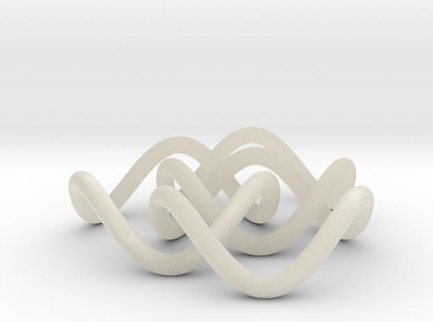 Borromean 6cm, thin 3d printed