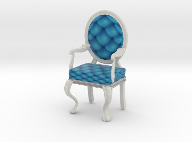 1:144 Micro Scale RobinWhite Louis XVI Oval Chair in Full Color Sandstone