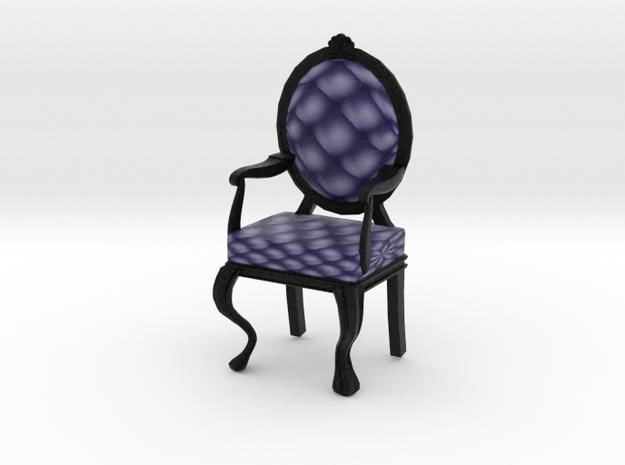 1:48 Quarter Scale NavyBlack Louis XVI Chair in Full Color Sandstone