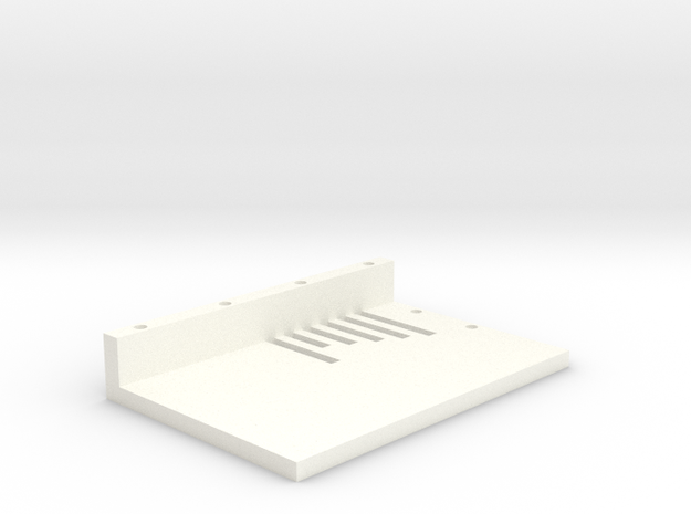 Dual 18650 SX350J Mod Lid in White Processed Versatile Plastic