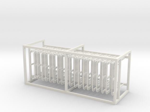 CB-3 Ladders x10, New Zealand, (S Scale, 1:64) in White Natural Versatile Plastic