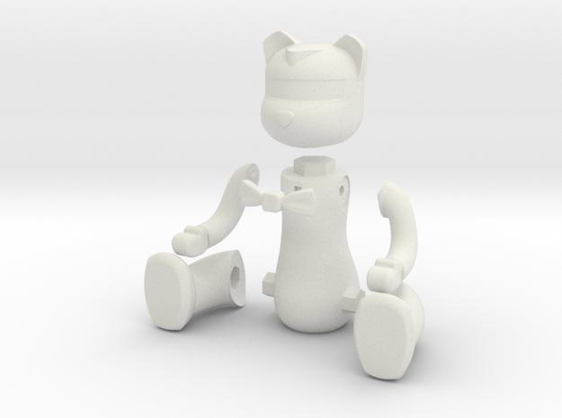 Bear A-STL-0-1 in White Natural Versatile Plastic