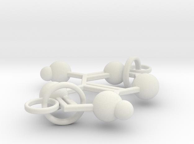 Adenine(double Ring) in White Natural Versatile Plastic