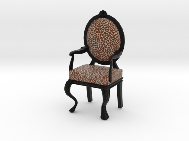1:12 Scale Giraffe/Black Louis XVI Chair