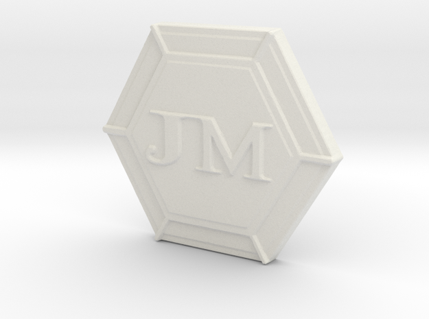 JM's Personal Logo and Board Game Lager in White Natural Versatile Plastic